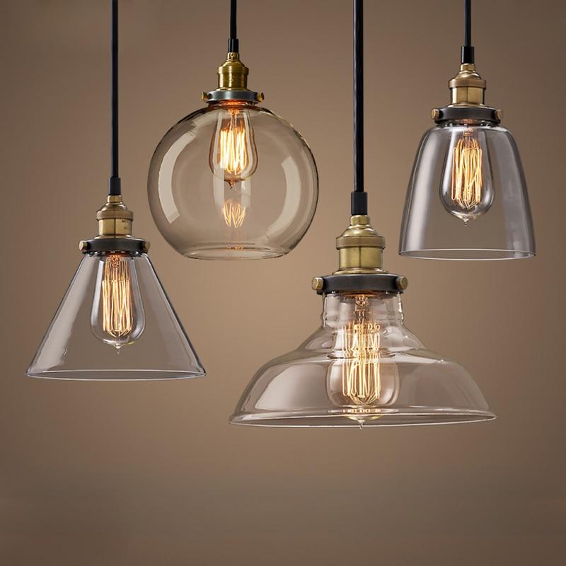 Vintage Lampade A Sospensione In Vetro Retro Hanglamp Russia Loft ...