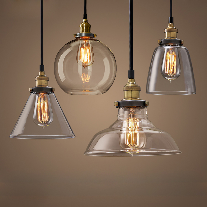 modern kitchen pendant lights vintage pendant lights retro glass hanglamp russia loft 7732