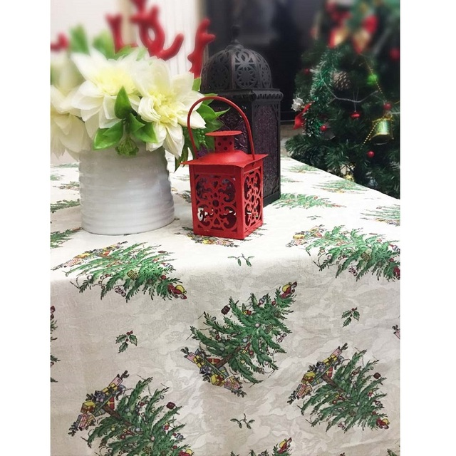 Christmas Tree 125 178cm Rectangular Table Cloth Cover Thanksgiving Tablecloth Manteles De Navidad Home