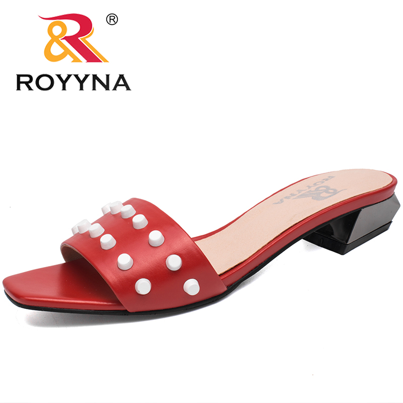 ROYYNA New Arrival Novelty Style Women Sandals Outdoor Walking Summer Shoes Flats Slippers Women comfortable Fast Free Shipping 2016 spring and summer free shipping red new fashion design shoes african women print rt 3