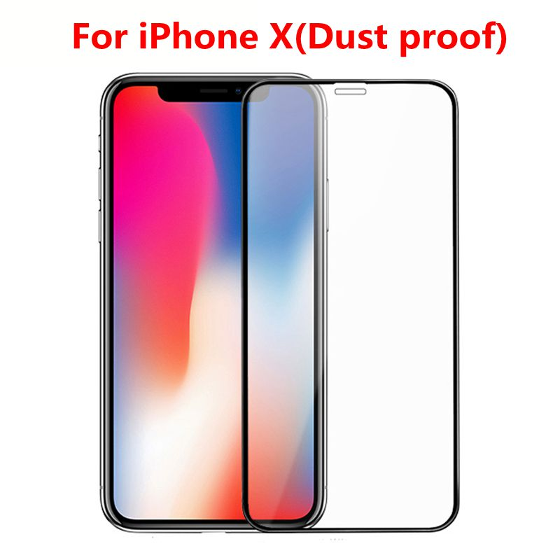2Pcs Mud Proof For Iphone X Tempered Glass 3D Full Display Cowl Explosion-Proof Display Protector Movie For Iphone X Iphonex