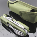 Outdoor Tableware with LED light Stainless Folding Camping Tool Multi Function Dinnerware Fork/Spoon/Knife/ Bottle Opener Set
