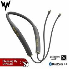 W2-AM1 Беспроводной Bluetooth наушники с кабелем модуль обновления с 2PIN/разъем MMCX Поддержка Apt-X с микрофоном для Android/iOS V5.0