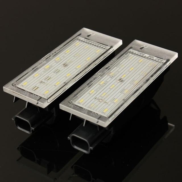 2 шт. 12 В белый светодио дный поворотника номер лампа для Renault/Twingo/Clio/Megane/Lagane ошибок