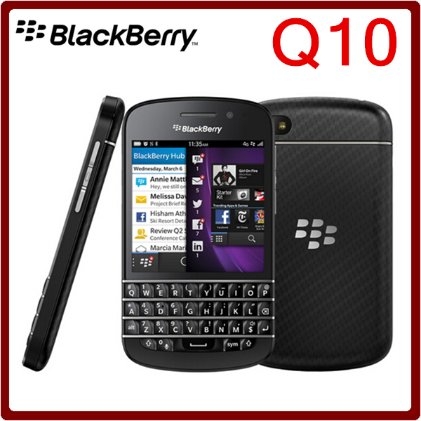 bilder für Q10 ursprünglicher freigesetzter blackberry q10 dual core 8mp 16 gb rom 2 gb ram bluetooth wifi 2100 mah refurbished smartphone freies verschiffen