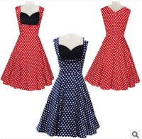 Free Shipping summer style New hot wave slim sleeveless dress rockabilly dress