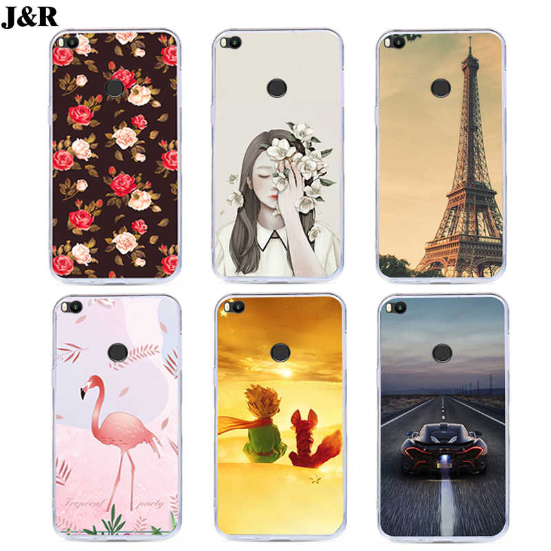J&R Printing Phone Cover For Xiaomi Mi Max 2 MiMax 2 Silicone Case Soft TPU For Xiaomi MAX2 Cases Cartoon Animals Protective