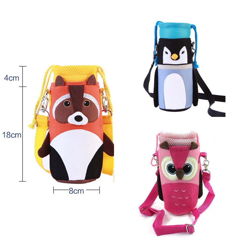 Baby Kids Insulation Bottle Bags Water Storage Messenger Bag Thermos Straw Cup Packages  ...