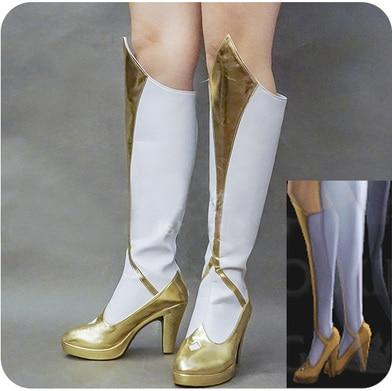[Personnaliser] 2017 chaud LOL lumière Ver. Femeal Hero LUX Cosplay édition originale chaussures à talons hauts pour Halloween livraison gratuite STOCK