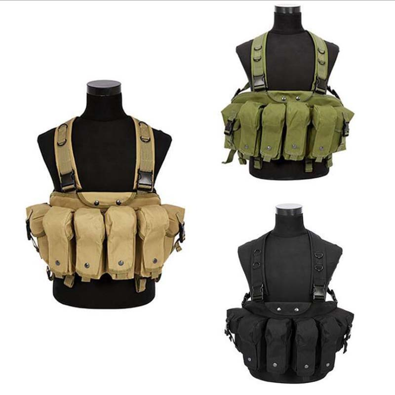 Multi-bag Design Army Military Tactical Vest Outdoor Equipment Camouflage CS Wargame Airsoft Paintball Hunting Protection Vest