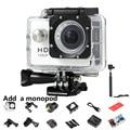 1080 P 12MP Câmera de Vídeo 170 Graus lente Grande-Angular Sports Action Camera DV com Mergulho 30 M Filmadora Mini + MONOPÉ 7 Cores