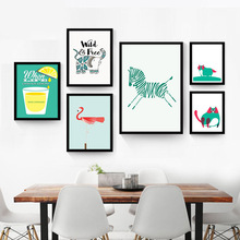The living room wall painting decorative of modern minimalist cartoon children real paintings creative personality smal