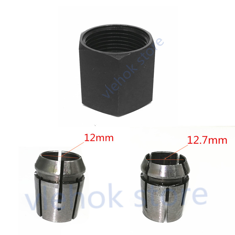 """Collet Cone 1/2"""" 12.7mm 12mm Nut For Makita 763674-5 763622-4 763628-2 RP2301FC RP2301 RP1800 RP2300 RP2300FC RP18001 Router"""