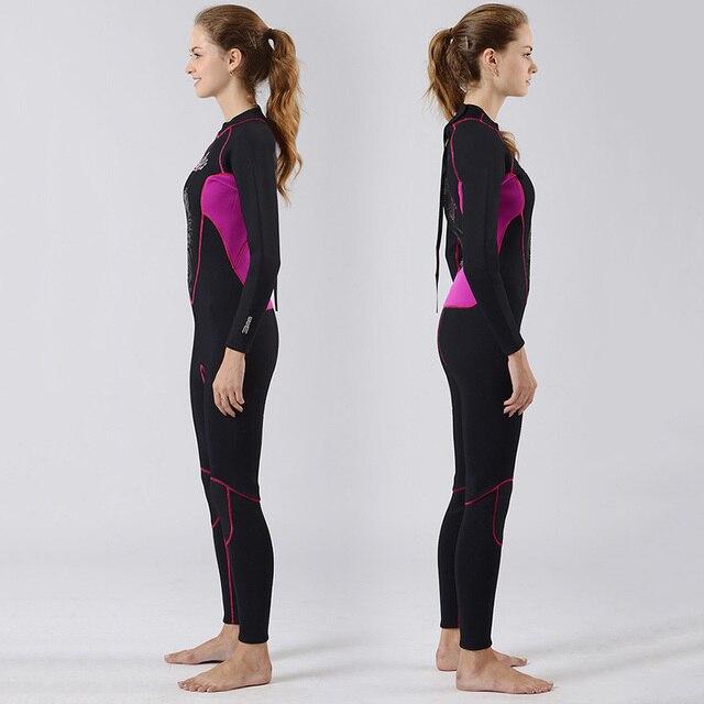 Neoprene 3MM Wetsuit Women Full Body Scuba Diving Suit Wet Suit Jellyfish Swimsuit Rash Guards Dive Swimwear Surf Suit Rashguard