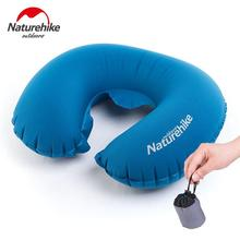 Naturehike Neck Pillows Car Travel U-shaped pillows airplane inflatable pillow office nap pillow cushions hot pvc flocking hump inflatable pillow neck u shaped pillow nap health massage pillow travel sanbao