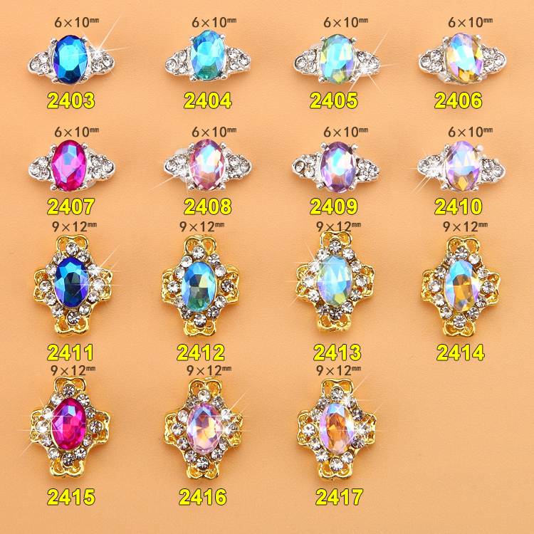 015 Fashion Shiny 500pcs Alloy Rhinestone Bowknot nail jewellery 3D Alloy Jewelry Nail Art Tips Decoration ML3499 3599 in Rhinestones Decorations from Beauty Health