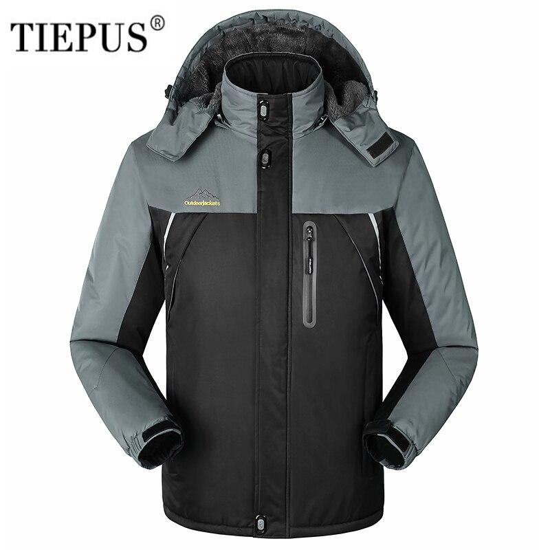 TIEPUS new plus size M-6XL7XL 8XL 9XL Winter Jacket Men Windproof waterproof Jackets men Cashmere Outwear male   Parka   Coats