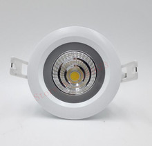 Free shipping 15W IP65 Waterproof COB  LED Ceiling down Light round Recessed Downlight + Led Driver AC100~260V