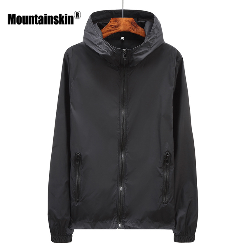 Mountainskin Men's Women's Summer Quick Dry Skin Jackets Casual Anti-UV Windbreaker Hooded Coats Mens Brand Clothing SA454