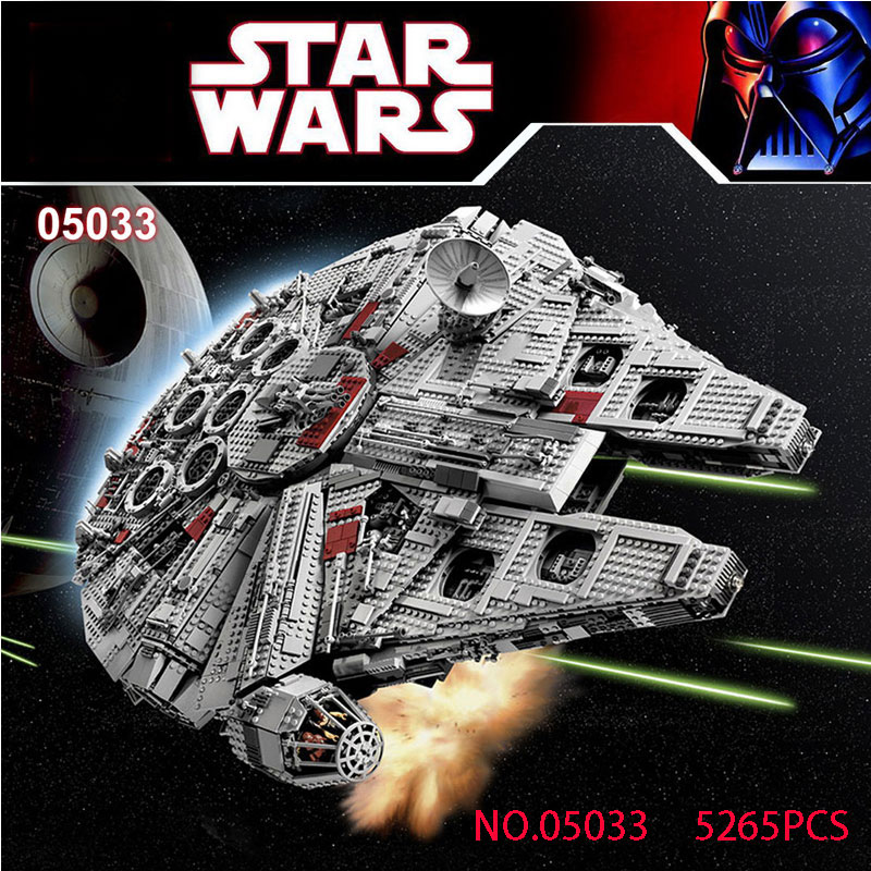 LEPIN05033 Planet Ultimate Wars Collector's Millennium Model Falcon Building Kit Blocks Bricks Toy for boy Gift Compatible 10179 kitlee40100quar4210 value kit survivor tyvek expansion mailer quar4210 and lee ultimate stamp dispenser lee40100