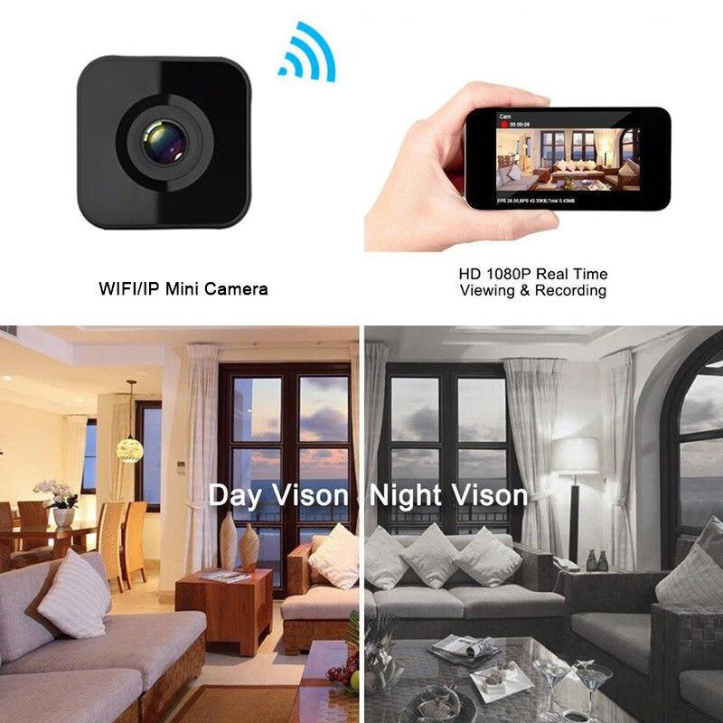 Livraison directe 1080 P HD WIFI mini caméra vision nocturne Détection de Mouvement mini caméscope Boucle enregistreur vidéo Petit Sans Fil webcam