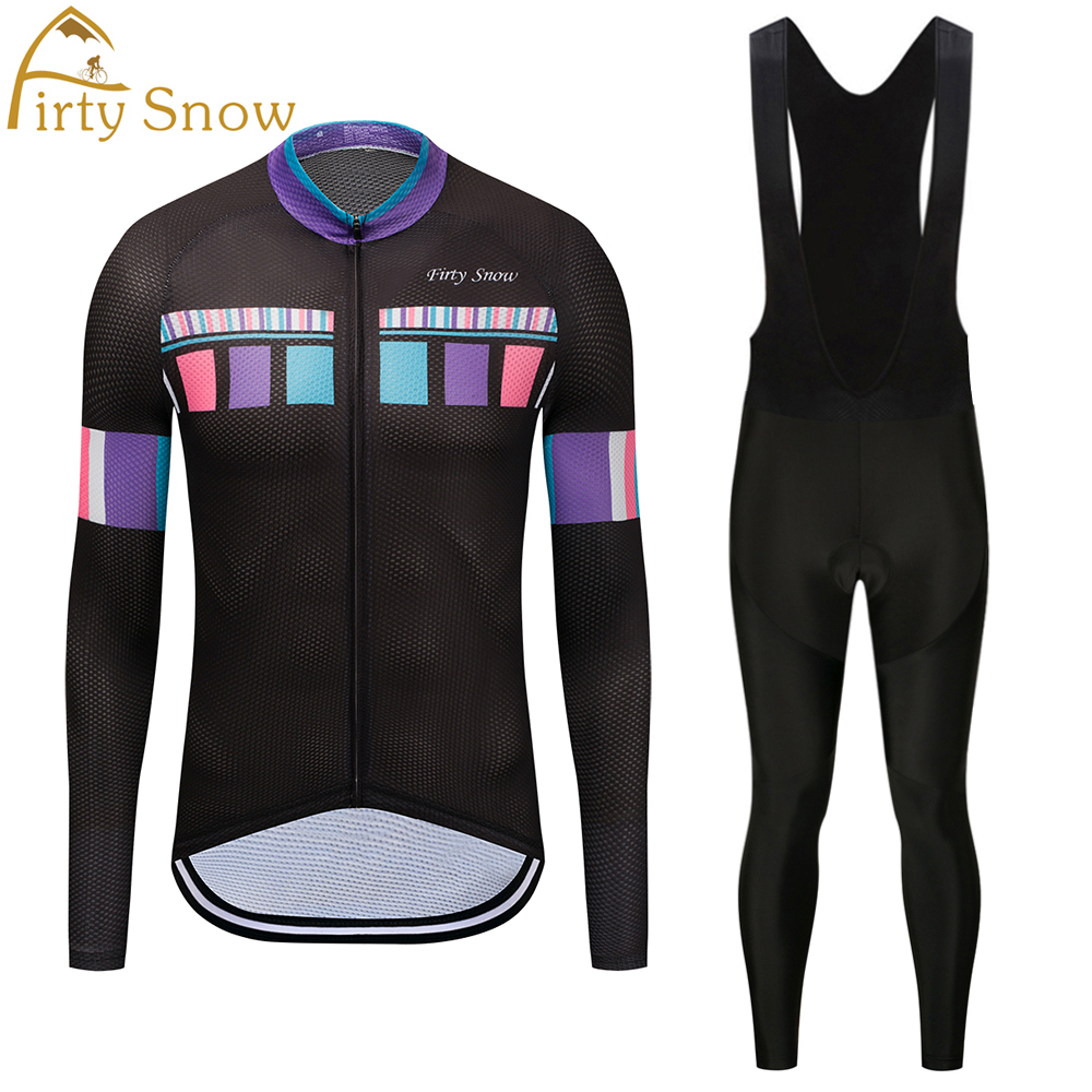 Long sleeve Cycling JERSEY Bike Pants set mens Ropa Ciclismo mens summer Bicycle clothing Long Cycling wear