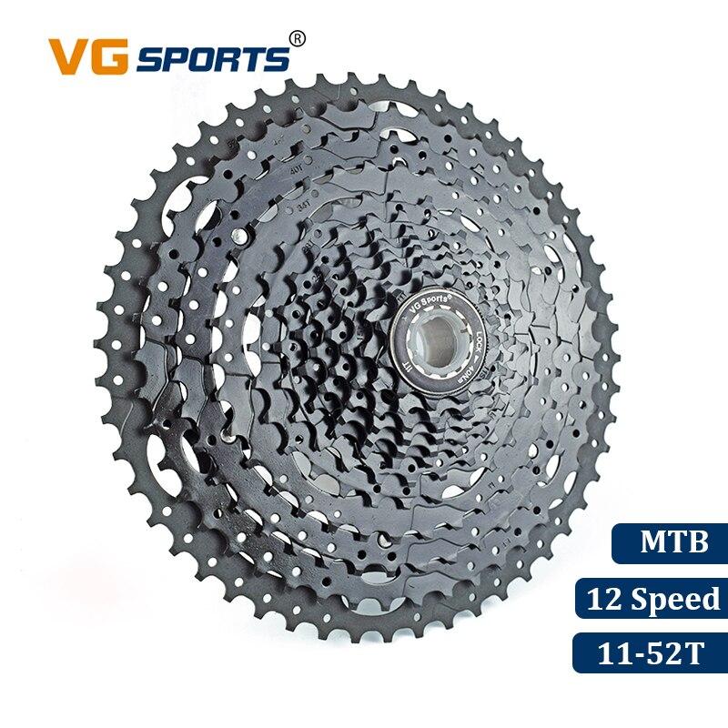 VG Sport VTT VTT 12 Vitesse Cassette 12 Velocidade 12 S 52 T Vélo Pièces Noir Cassete Roue Libre Pignon Cdg cog 724g