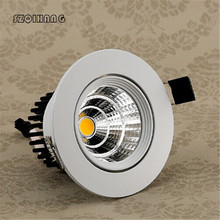 10~15W Dimmable Cob Recessed Hight light Led Downlight Spot Light Ceiling Lamp Down Lamp. Free Shipping