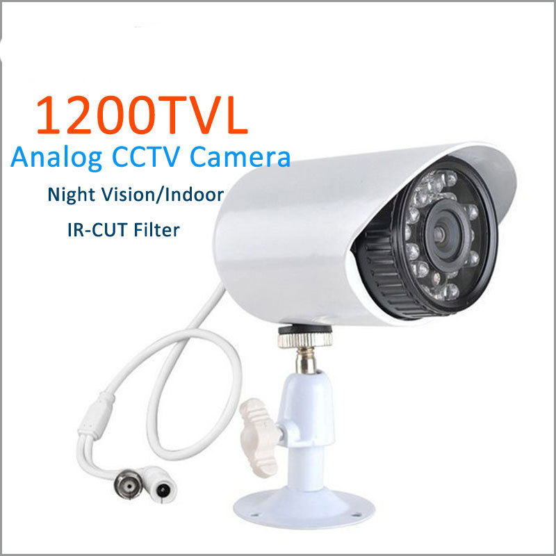 1/3 SONY CMOS With IR-CUT 1200TVL Security Camera Infrared 24 LED Color IR Night Vision Surveillance CCTV Camera Outdoor 1 3 sony cmos 1200tvl cctv security camera metal ip66 24 led color ir night vision surveillance home outdoor video camera