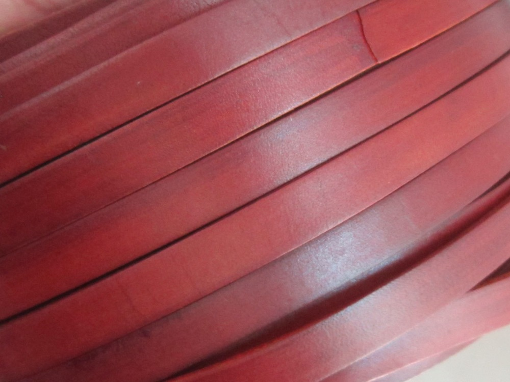 10mm Distressed leather 10x2mm genuine leather cord Ancient brown in Jewelry Findings Components from Jewelry Accessories