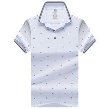 03edd746fd 2018 nuevos hombres Polo Shirts Verano de manga corta impresión de la  manera algodón transpirable Casual