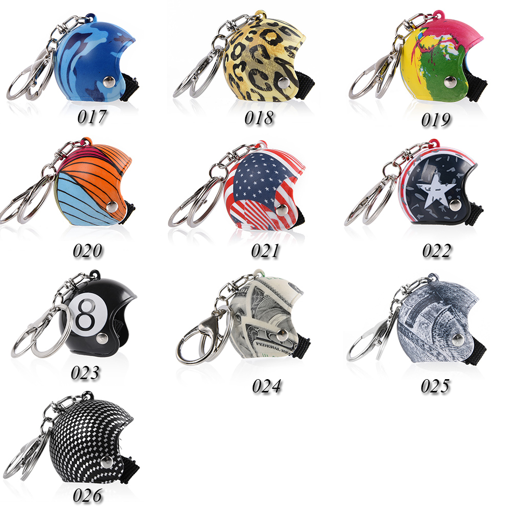 1 Pc Creative Car Motorcycle Bicycle Helmet Key Chain Ring Keychain Keyring Key Fob Pendant Xmas Christmas Women Mens Gift Toy in Key Rings from Automobiles Motorcycles