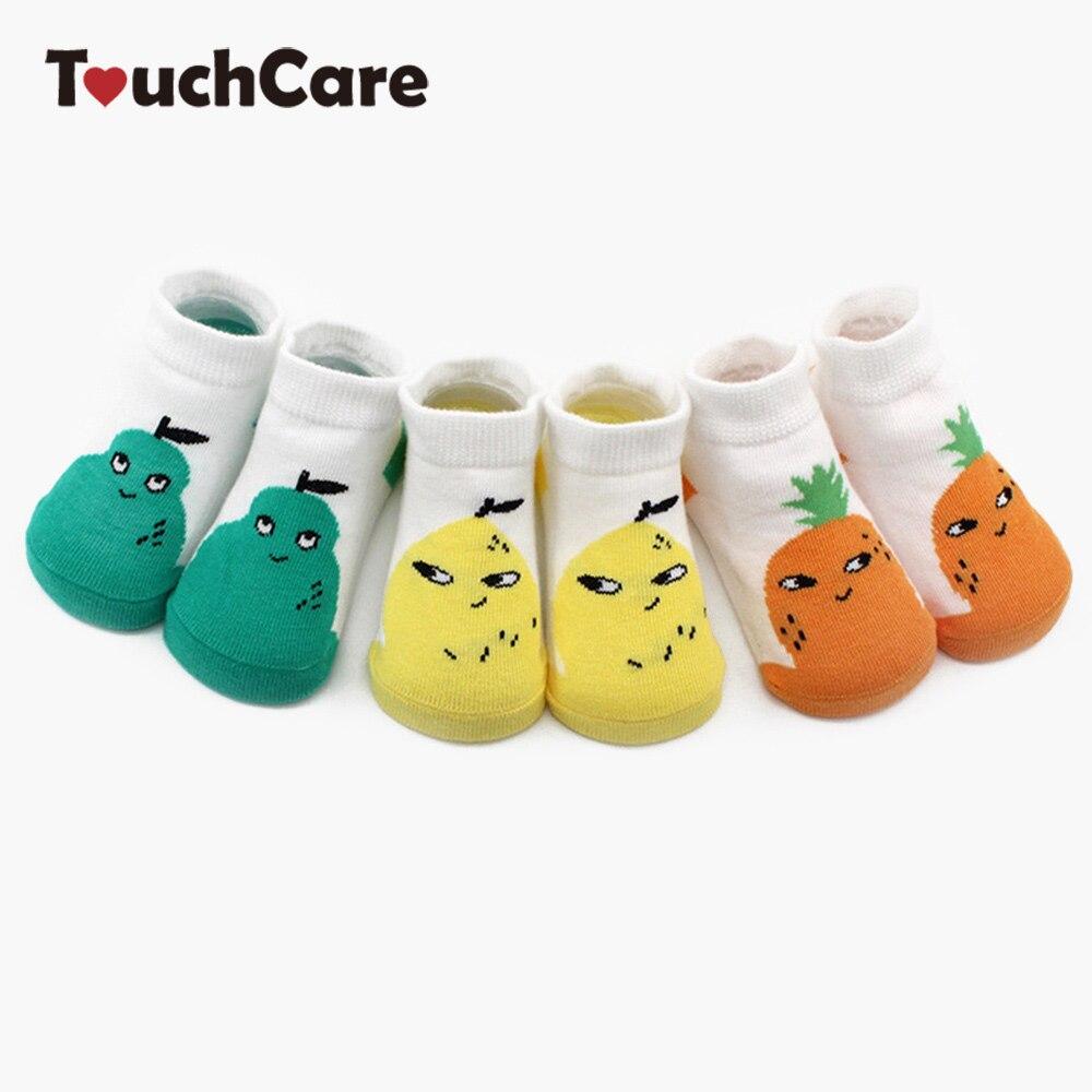 Clearance Touchcare 3Pairs/Lot Newborn Baby Socks Anti-skid Cartoon Infant Socks Bear Print Baby Floor Socks Toddler Socks