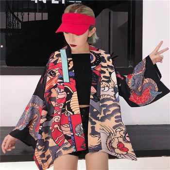 Kimono cardigan blouse shirt summer beach kimonos woman 2019 cosplay yukata female obi Japanese streetwear komono KK2451
