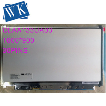 "CLAA133UA03 CW 13.3"" display  1600*900 Monitor LCD Laptop Screen 30 pins LED Panel"