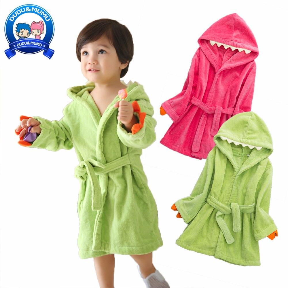 Kinderen Cathrobe Katoen Animal Dinosaurus Cartoon Ontwerp Jongens Meisjes Hooded Pure Mantel Kinderen Handdoek 100% Katoen Hoge Kwaliteit