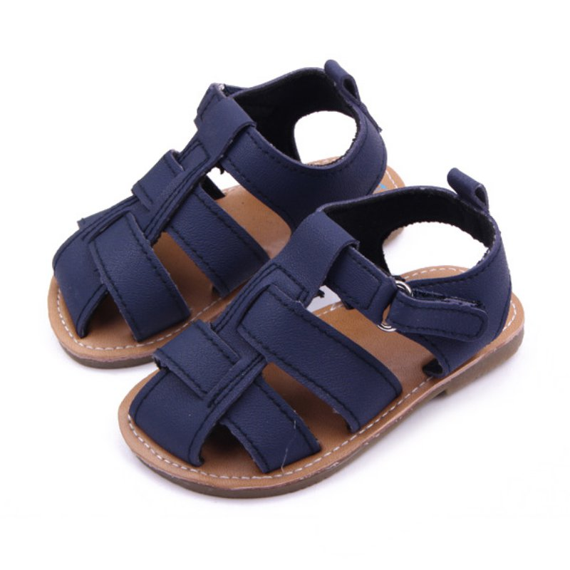 2017 Summer New Style Newborn Baby Boys Shoes Kids Fashion Solid Colour First-walker Shoes D8