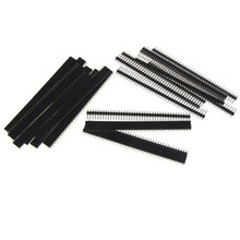 20pcs 10 pairs 40 Pin 1x40 Single Row Male and Female 2 54 Breakable Pin Header