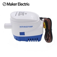DC12V 24V Automatic Bilge Pump 600 750 1100GPH Auto Submersible Boat Water Pump Electric Pump For