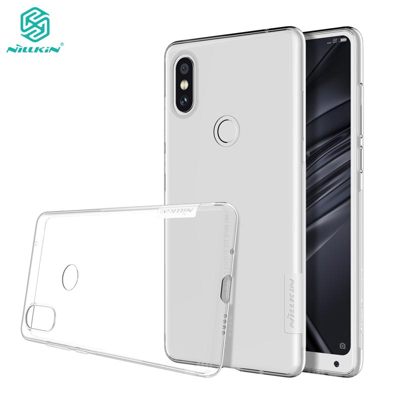 Xiaomi Mi Mix 2S Cover Case Nillkin Nature Series Transparent Clear Soft TPU Case for Xiaomi Mi Mix 2S Mix2S Cover(China)