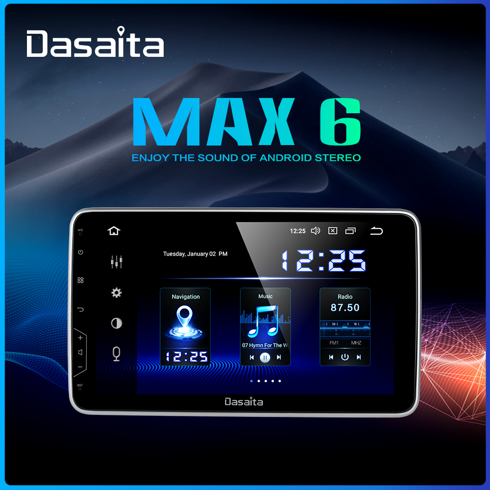 """Dasaita 10.2"""" IPS Screen Car Radio 2 Din Android 9.0 DSP Universal Car Auto Stereo Multimedia Bluetooth GPS Navigation HDMI MAX6-in Car Multimedia Player from Automobiles & Motorcycles"""