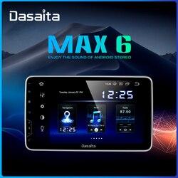Dasaita 10,2 ips экран автомобиля Радио 2 Din Android 9,0 DSP универсальный автомобильный стерео Мультимедиа Bluetooth gps навигация HDMI MAX6