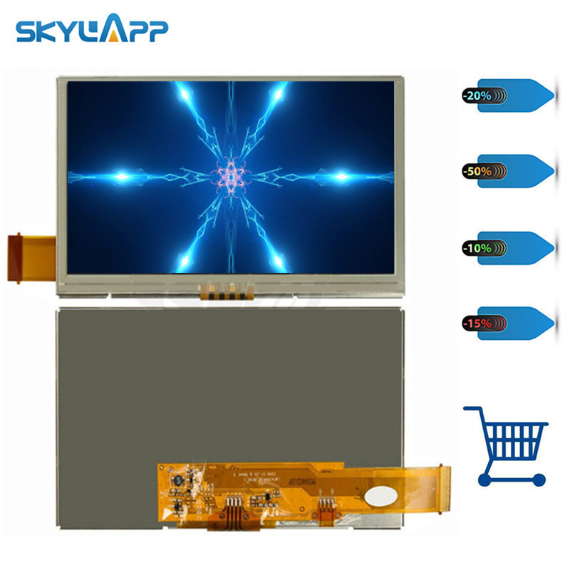 Skylarpu 4.3 inch for LMS430HF09-003 GPS Car Navigator 45 pin LCD screen display panel with touch digitizer glass Free shipping Skylarpu 4.3 inch for LMS430HF09-003 GPS Car Navigator 45 pin LCD screen display panel with touch digitizer glass Free shipping