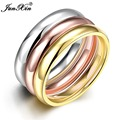 JUNXIN 3pcs Unique Design Fashion Male Stainless Steel Ring Party Wedding Rings For Men Bague Homme Vintage Jewelry SMT0364