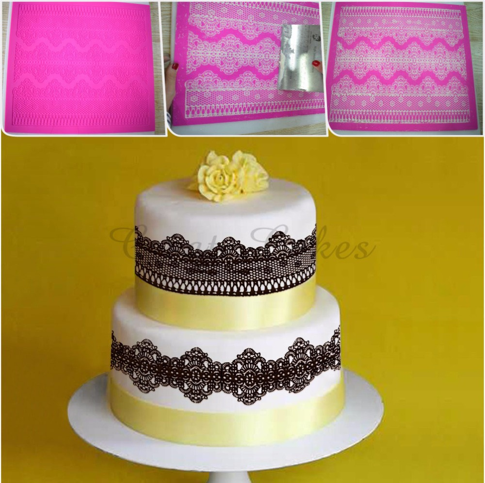 Aliexpress.com : Buy Chantilly Cake Lace Mold for Wedding Cake ...