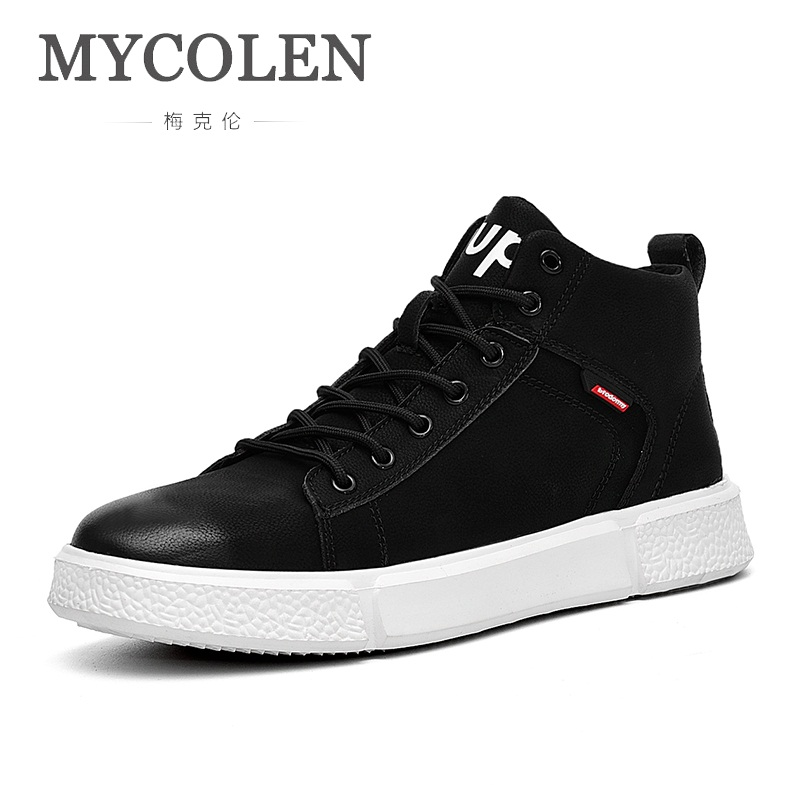 MYCOLEN 2018 NEW Brand Men Casual Shoes Rubber Breathable Spring And Autumn Male Sneakers Autumn Lace Up Flats Schuhe HerrenMYCOLEN 2018 NEW Brand Men Casual Shoes Rubber Breathable Spring And Autumn Male Sneakers Autumn Lace Up Flats Schuhe Herren