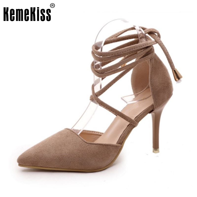 Female High Heel Sandals Women Cross Strap Pointed Toe Thin Heels Sandalias Wedding Shoes Female Sexy Party Footwears Size 35-39 brand feather white high heel women sandals for wedding personal romantic princess pumps sandalias masculinas wholesale