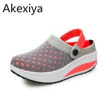 Akexiya 2017 лето женщин босоножки на платформе женская обувь сетка обувь на плоской подошве вьетнамки женщины мульти цвета обувь для ходьбы 8310