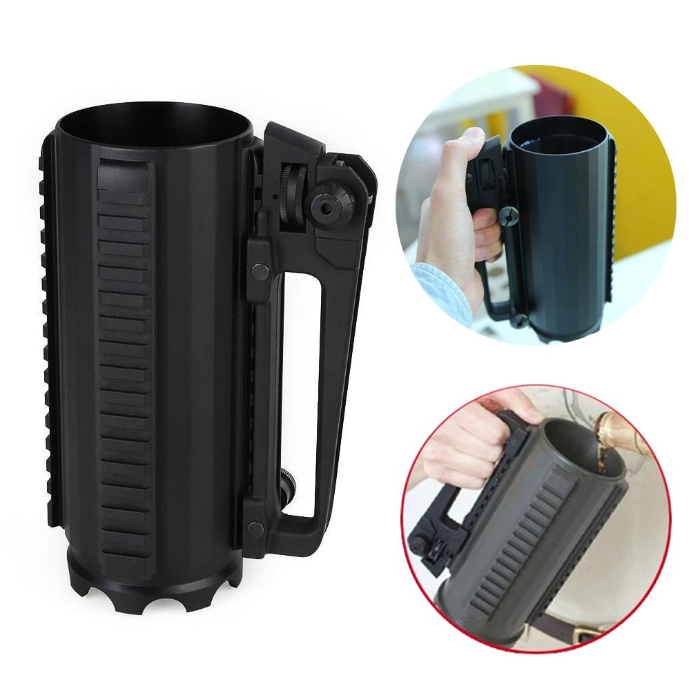 Tactical Military Multifunction Metal Alloy Detachable Carry Battle Rail Cup Mug