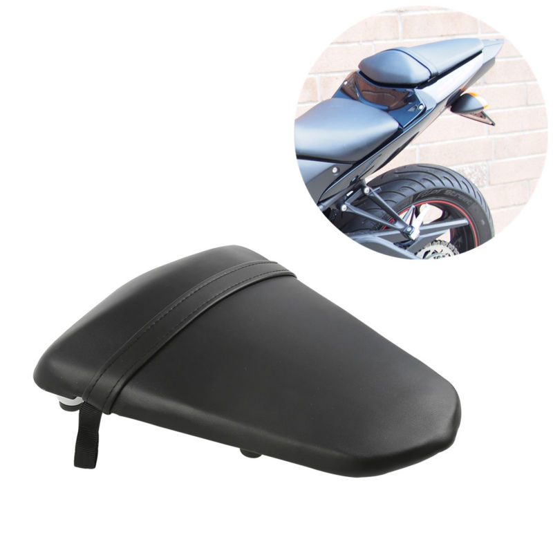 Motorcycle Black Rear Pillion Passenger Seat Saddle Pad For Yamaha YZF R3 15-17 2016